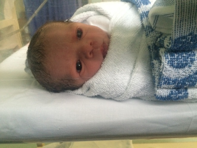 This was one of the first pictures which was take of our little boy x